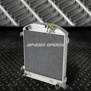 For 32 Ford Hi boy Street Rod W chevy Sbc V8 Engine Swap 3 row Aluminum Radiator