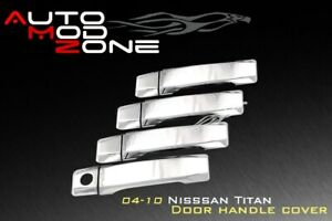 Fit 04 15 Nissan Titan Triple Chrome 4 Door Handle Cover Covers Set