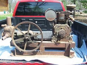 Antique Fairbanks Morse Water Piston Pump Hit Miss Engine Era Carriage