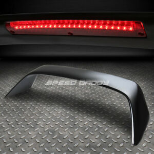 For Integra Db Dc2 3dr Nrg Type R Black Rear Trunk Spoiler Wing Led Brake Light
