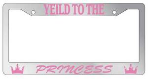Chrome Metal License Plate Frame Yield To The Princess Auto Accessory
