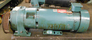 Reliance Electric 1 5 Hp Dc Motor T56h1024m we W Speed Reducer Warranty