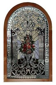 Stained Glass Arched Window Antique Beveled 5747