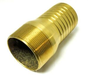 Hose Barb Kc King Nipple 3 Male Npt Brass For 3 Id Straight End Hose