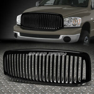 Black Vertical Front Bumper Grill Grille For Dodge Ram 1500 2500 3500 2006 2008