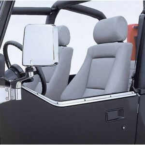 Fits Jeep Wrangler Yj 1987 1995 Stainless Door Half Retaining Channel 11146 01