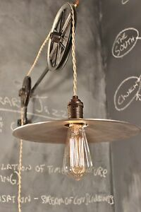 Vintage Industrial Pulley Lamp The Draftsman Light