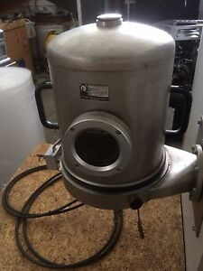 Leybold Univex 300 Vacuum Chamber With Stainless Steel Bell Jar