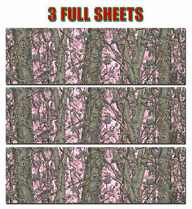3 Camo Decal Made From 3m Wrap Vinyl 48 X15 Truck Camo Tree Print Camouflage