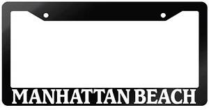 Glossy Black License Plate Frame Manhattan Beach Auto Accessory 974