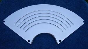 55 56 Chevy Speaker Grille Polished Aluminum