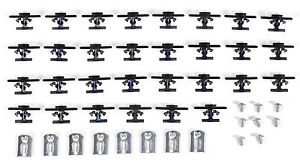 55 56 57 Chevy 4 door Sedan 210 Belt Molding Clip Set
