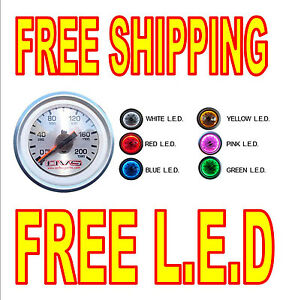 Avs Dual Needle Gauge With Free Led Light Air Ride 200 Psi Free Shipping