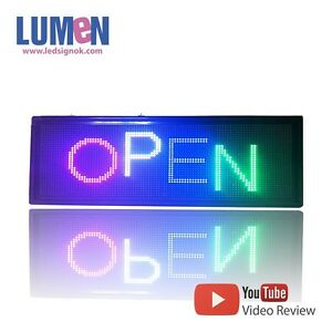 7 X 17 Led Sign Rgb 7 Color Programmable Scrolling Indoor Message Display P4