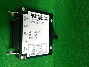 Nippon Thermo Icp30 n 1 1 5 Circuit Protector 15a Used