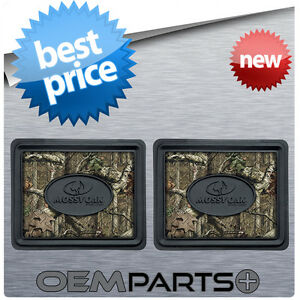 2x Mossy Oak Rear Floor Mats Camouflage Camo Truck Suv Car Pair Set Hunter Usa