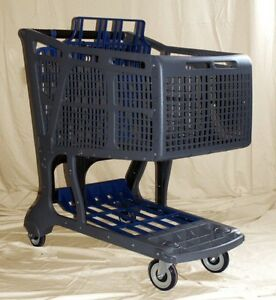 Gray blue Large Plastic Grocery Shopping Carts