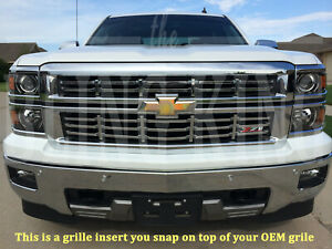2014 2015 Chevy Silverado Z71 Chrome Grille Grill Insert Overlay Trim Z71 Only
