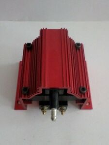 Red Anodized 50 000 Volt Hi Output E Core Super Coil For Electronic Ignition 12v