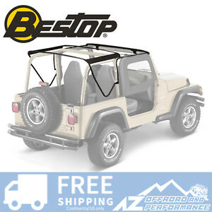 Bestop Factory Style Soft Top Frame Bow Kit Fits 97 06 Jeep Wrangler Tj 55002 01