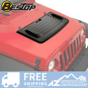 Bestop Hood Applique For 2007 2018 Jeep Wrangler Jk 2 4 Door 81713 01 Black