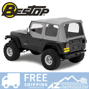 Bestop Replace A Top 88 95 Jeep Wrangler Yj Clear Half Door Skins Charcoal
