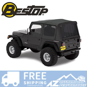 Bestop Replace A Top 88 95 Jeep Wrangler Yj Half Door Skins Tinted Black Denim