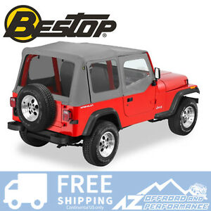 Bestop Replace A Top 88 95 Jeep Wrangler Yj Half Door Skins Tinted Charcoal