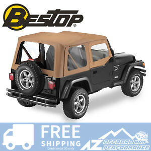 Bestop Sailcloth Replace A Top Half Door Clear Spice For 97 02 Jeep Wrangler Tj