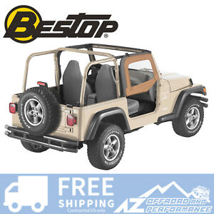 Bestop Soft Fabric Upper Doors Spice 51780 37 For 88 95 Jeep Wrangler Yj