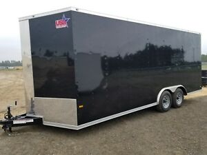 8 5x20 Enclosed Trailer Cargo V Nose 22 Car Hauler 8 Motorcycle Box Lawn 2018