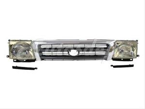 For 1998 2000 Tacoma 2wd W prerunner 4wd Grille Chr arg Filler Headlight 5p