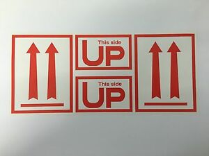 Large 4 x9 Arrows And This Side Up Air Specialty Shipping Labels 250 roll