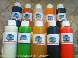 Shaved Ice Snow Cone Concentrate 10 4oz Bottles each Bottle Makes 1 Gallon