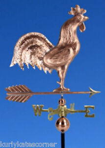 Large Copper Rooster Weathervane Made In Usa 363