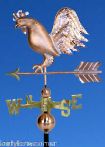 Quirky Copper Rooster Weathervane Made In Usa 368