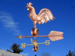 Massive Copper Rooster Weathervane Made In Usa 369