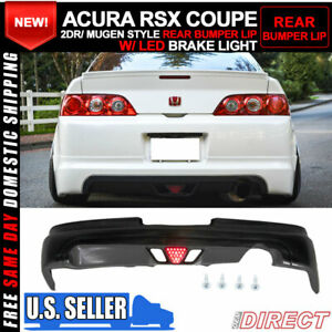 For 05 06 Acura Rsx Coupe 2dr Mugen Style Rear Lip With Led Brake Light