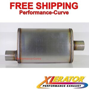 Xlerator Performance Muffler Stainless Steel 2 5 O c 4x9 Oval Xs1226