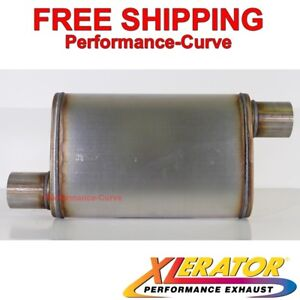 Xlerator Performance Muffler Stainless Steel 2 5 O o 4x9 Oval Xs1236