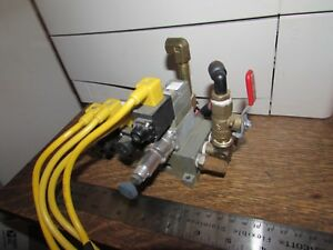Lot Numatics Pneumatic Electric Solenoid Valve Bank Regulator Air Vacuum Smc Mac
