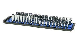 Ernst 8451 Socket Boss 3 18 Rail Socket Tray Organizer System Blue