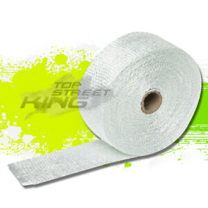50mm X 7 5m Exhaust Header Turbo Manifold White Thermo Insulation Heat Wrap