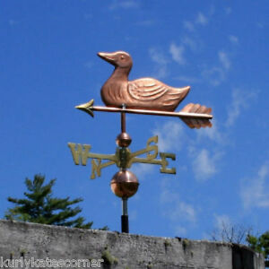 Sweet Duck Weathervane W Copper Balls Brass Directionals Made In The Usa 199