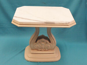 Weiman Heirloom James Mont Style Lacquer Side Occasional Table W Italian Marble