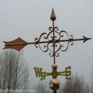 Copper Large Fancy Arrow Weathervane Made In Usa 140