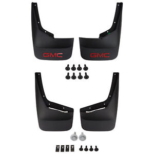 Oem New Front Rear Splash Guards Mud Flaps Set Black 07 14 Gmc Sierra