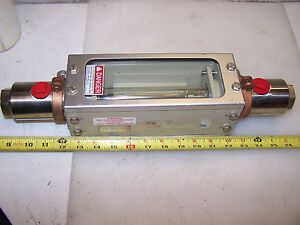 Brooks Nitrogen Flow Meter Site Glass Stainless Steel 1110ck12cmdaa
