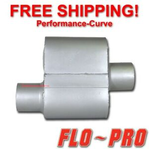 Single Chamber Performance Exhaust Race Muffler Flo Pro O C 3 V73041