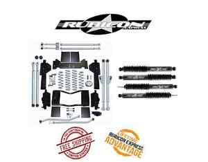 Rubicon Express 4 5 Extreme Duty Long Arm System Twin Shocks 93 98 Jeep Zj